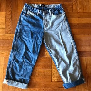 Urban Outfitters Baggy Two-Tone Jeans